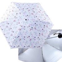 Umbrellas Titanium Silver Pocket Umbrella Portable Five Folding Mini Sun Rain Women Children Sunny Rainy Parasol