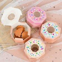 Hediye Paketi 10 ADET Hexagon Çörek Şeker Kutusu DIY Kağıt Tema Düğün Için Mutlu Doğum Günü Bebek Duş Çocuk Parti Iyilik