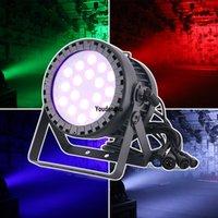 4pcs led par outdoor 18x10 rgbw 4 in 1 ip65 waterproof par led party lights music