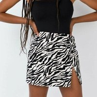 Skirts Casual Women Mini Skirt High Waist Leopard Zebra Print Party Clubwear Short Cocktail Clothing Elegant Straight