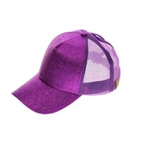 Moda All-Match Ponytail Baseball Net Caps Ladies Summer Sun Hats Sequined appuntito cappello adulto cappello adulto
