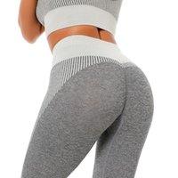 Leggings femininas Rooftrellen 15% Spandex Seamless Seamless Frete Calças Causal para Mulheres High Waist Fitness Push Up Long