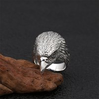 S925 Sterling Silver Ornament Ring for Men Thai Cool Punk Eagle Wijsfinger Big s Jewelry