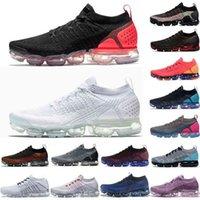 Buharlar FK MOC Fly 2.0 3.0 Sneakers Knit 1.0 2.0 Olmak Gerçek Erkek Kadın Rahat Ayakkabılar Üçlü Siyah Beyaz CNY Tiger Gökkuşağı Spor Ayakkabı TY5C
