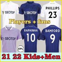 Fãs jogador leeds futebol jersey unido 21 22 Hernandez PovedA Bamford Alioski T.Roberts Raphinha Rodrigo M Llorente R 2021 2022 Homens Kit Kit de Futebol Camisa Uniformes