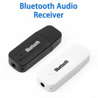 Parts 1 X USB Wireless Bluetooth AUX Audio Music Receiver Mini Size Portable Black White Vehicle Electronic Accessories