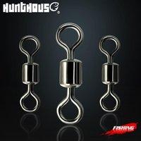 Accessoires de pêche Hunthouse American Swivel Bague LB Leurure 8mm-15mm 30pcs / Sac Connecteur Boule Roulement Porte-perles en acier inoxydable