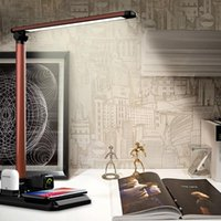 Table Lamps 26 LEDs Desk Lamp Wireless Charger Bedside Light Touch Sensor Eye Protection Dimmerable Led 3 Color Temperature