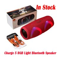 Charge 5 RGB Light Bluetooth Speaker Charge5 Portable Mini Wireless Outdoor Waterproof Subwoofer Speakers Support TF USB Card Package