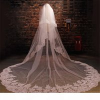 Lace Edge White Ivory Cathedral Wedding Veil Long Bridal Veil Wedding Accessories 3m 4m 5m