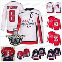 Washington Capitais 2021 Stanley Cup Playoffs Jersey Alex Ovechkin Nicklas Backstrom Michael Raffl Kody Clark T.J. Oshie Tom Wilson John Carlson Riley Sutter