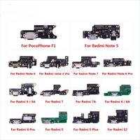 PORTA DI CHARGING PORTA PORTA PARTI PARTI FLEX Cable Microfono Microfono per Xiaomi Pocophone F1 Redmi Nota 8 8T 7 6 5 Pro Plus 8A 7A 6A S2