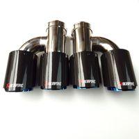 H Tuyaux de silencieux en acier en acier inoxydable bleu