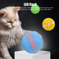 Dog Toys & Chews LED Rolling Flash Elastic Ball Active Jump Toy USB Electric Pet Cat Automatic Roll Fun Interactive Waterproof
