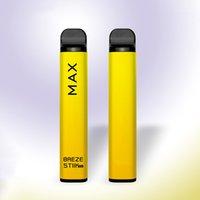 100% Original Breze Stiik Max Electronic Cigarette Vape 1800puffs disposable e cigarettes device vapaes pen 8 colors 950mah 6ml pod strater kits vs gunnpod