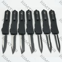 Extra Large D07 D A out the front Automatic Knife Tri-Grip handle 440C Blade EDC Tactical gear Dual action Tools survival Camping Pocket Auto Knives Cncostco