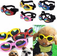 Fashion Summer Pet Dog Cat Foldable Goggles UV Sunglasses Eye Protection Wear With Strap Pet Products 6 Color wjl0083