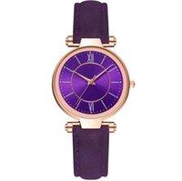 Mcykcy Marque Loisirs Style De Mode Montre Femme Bonne vente Violet Cadran Purple Jolie Dames Montres Quartz Montre-Bracelet