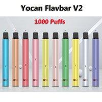 FLAVBAR V2 original VETE VAPE 1000 Puffs Dispositivo desechable de cigarrillo electrónico 650mAh Batería 2.8ml POD 10 colores de Yocantech