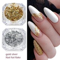 Nail Art Kits 2021 Gold Silver Luxury Decoration Glitter Flakes Aluminum Foils Sequins Chrome Powder For Manicure Accessories