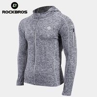 ROCKBROS Cycling Jacket Unisex Bike Sweat-absorbent Jersey Breathable Training Coat Quick Dry Sports Clothes Bicycle Equipment