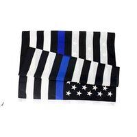 3X5FTS 90CMX150CM правоохранительные органы сотрудники США американская полиция Тонкая синяя линия флаг Блестья США полиции флаги RRD8185