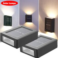 Outdoor Solar Lamps Waterproof Wall Light Up And Down Garden Decorative Lighting Street Lamp Home Stair Lights Warm White RGB