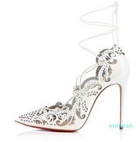 Zarif Lady Kırmızı Alt Pompaları Kadın Ayakkabı Sivri Burun Imire Yüksek Topuklu Abiye Düğün Seksi Gladyatör Stiletto-Heel EU35-43