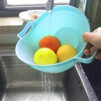 Hanging Baskets 2-in-1 Kitchen Organizer Fruits And Vegetables Washing Draining Basket Colander Storage Holder Accessory