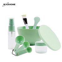 Makeup Brushes Face Mask Mixing Bowl Set, Facial Tool Kit With Plastic Silicone Measuring Cup Stick Spatulas