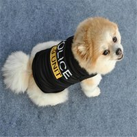 Moda Chaleco de mascotas perro y gato camiseta de verano ropa tricolor poliéster algodón manga corta tapa con letras de impresión con letras