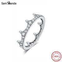 Yutong New Original 100% 925 Sterling Silber Ring Verzauberte Krone Stapelbare Ringe Vintage Klar CZ Tiara Gold Farbe Für Frauen Schmuck