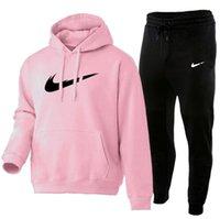 2021 الرجال الربيع مجموعات هوديي + السراويل قطعتين عارضة اللون الصلبة التراكوي الذكور الأزياء الرياضية مجموعة إلكتروني الطباعة sweatsuit