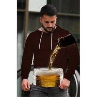 البيرة الرجال 3d المطبوعة هوديي مذكرة الموسيقية تأثير البصرية حزب الأعلى الشرير القوطية الرقبة جولة عالية الجودة البلوز الأمريكي