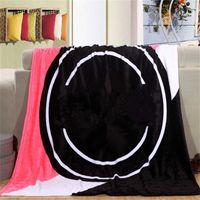 Lettre d'amour Couverture 130 * 150cm Couvertures de serviette de plage Velvet Soft Coral Velvet Climatisation Climatisation Tapis Confortable Tapis 10pcs Jim01