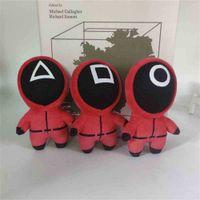 TV Squid Game Cosplay Plush Toy Children's Cute 12cm Stuffed Toys Key Chain Fashion Christmas Bag Pendant Red Mini Keyrings Supplies Gifts