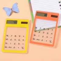 Hrm transparent korean creative student stationery calculator learning and ningultra thin solar mini calculators computer portable lear