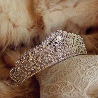 Hair Clips & Barrettes Crystal Wedding Tiara Crown Queen Bridal Accessories