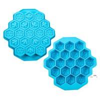 Bar Silikon Eiswürfelformen Flexible Ices Tabletts BPA frei Für Whisky Cocktail 19 Gitter Bienenwabe Wabenform FWA4353