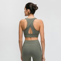 A Hair Generation High Collar Sports Bra Triangle Hollow Back Gathered Shockproof Yoga Fitness Underwear for Women