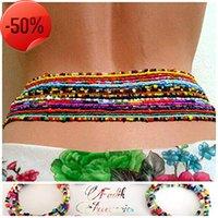Gioielli Moda Sexy Contrasto Colore Riso per Bead Thanta Catena Bikini Mix con corpo multistrato femmina