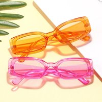 American Box-shaped Candy Color 2021 Sunglasses Small Trendy Ocean And Piece Glasses Men's European Female New Lneds