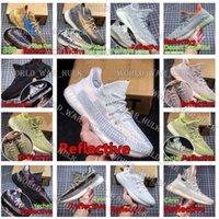 2021 di alta qualità Yecheil Hyperspace nero riflettente statico Kanye West V2 Mens Donne scarpe da corsa scarpe moda scarpe da ginnastica formatori con scatola scarpe