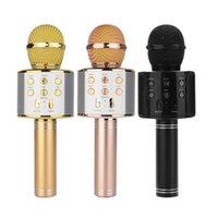 WS858 Microfone Handheld Bluetooth Wireless KTV 858 com alto-falante Mic Microfono Altifalante