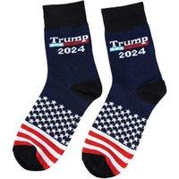 Trump 2024 Socks Us Flag Stars Stripes Cotton Stocking Sock US Presidential Election Trump teenager Medium hiphop Socks G94FODX