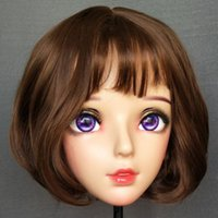 Party Masks (Nan-02)Female Sweet Girl Resin Half Head Kigurumi BJD Mask Cosplay Japanese Anime Role Lolita Crossdress Doll