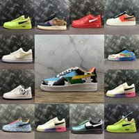 Air force 1 AF1 ben and jerry 1sIce Silk Breathable 2021 Skateboard Shoes Originals Type Antiskid Rubber Built-in Zoom Cushionings air New orce Athletic Shoes