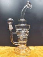 Glass Bong Water Pipes Hookahs Shisha Smoke Pipe Beaker base Dab Rigs Recycler Oil Rig Bubbler torobong shop
