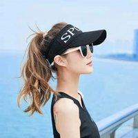 2021 Summer Women Empty Top Eend Tong Baseball Cap Sunglasses Fashion Hip Hop Golf Outdoor Sport Uv Sunburn Cream 0727
