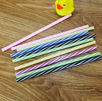Многоразовые пластиковые соломинки красочные пластмассы полоса питьевой соломинки для купочки банок семьи или вечеринка SN5286